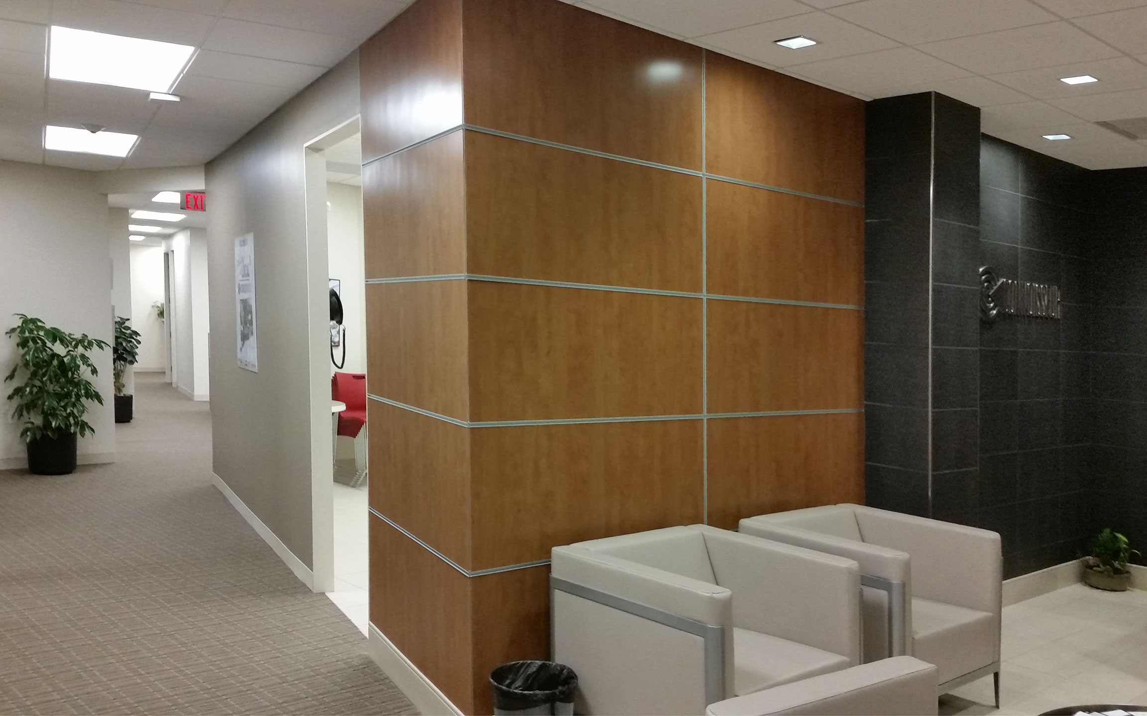 Wall Paneling Designs For Office : Gallery commercial fauxwoodveneer